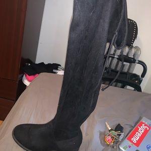Black high thigh boots